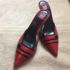 Brand New Vintage Coach Red/Black Heels Sz 8.5b